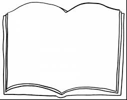 brilliant blank book clip art with book coloring pages