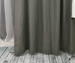 Grey Linen Curtains Custom Curtains Linen Curtain Panels White Grey Pink