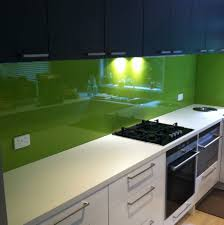 bright green glass splashbacks kitchensplashbacks green