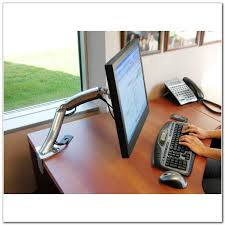 Lx Hd Sit Stand Desk Mount Lcd Arm by Desk Mount Lcd Arm Hostgarcia