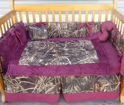 tree max 4 advantage camouflage and maroon minky dot crib bedding set