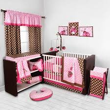 Crib Bedding Set With Bumper Bacati Bugs Pink Chocolate 10 Nursery In A Bag
