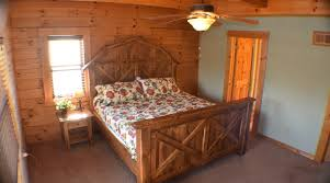 golden bear lodge upstairs bedroom 2 custom made queen bed and