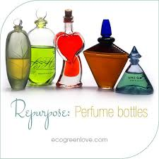 Upcycle Crafts - reusing old perfume bottles ecogreenlove diy upcycle