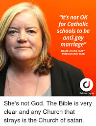 Anti Gay Meme - it s not ok for catholic schools to be anti gay marriage dame