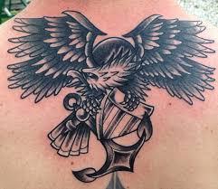 trinity tattoo company black and grey navy eagle
