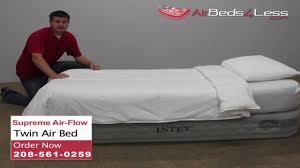 intex raised twin supreme air flow air bed youtube