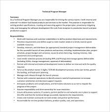 Technical Program Manager Resume Production Manager Job Description Manager Resume Template Retail