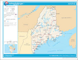 Maine County Map Maine Reference Map U2022 Mapsof Net