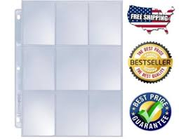 9 pocket pages 25 pcs 9 pocket pages protectors sheets clear trading cards