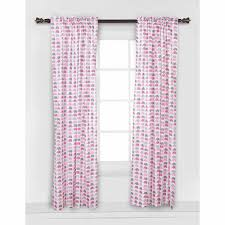 Gray And Pink Curtains Bacati Mini Elephants Curtain Panel 42 X 84 Inches 100 Cotton