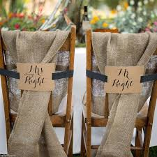 mr mrs wedding table decorations mr and mrs kraft chair banners wedding table decor decoration