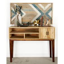 mango wood console table stained brown mango wood console 28776 the home depot