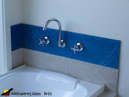 bathroom splashback ideas bathroom splashbacks shower screens wathaurong glass ocean blue