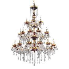 Elegant Lighting Chandelier Shop Elegant Lighting Alexandria 45 In 30 Light Gold Crystal