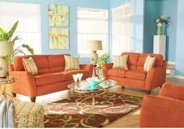Orange Sofa Living Room Ideas Orange Sofa Decorating Ideas Catosfera Net
