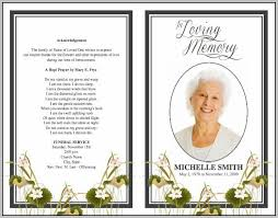 funeral phlet ideas comfortable free funeral program template photos resume ideas