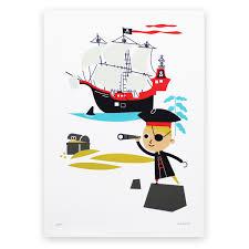 affiche chambre garcon poster chambre enfant pirate makii