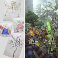 part 5 professional anime artist turns his sons u0027 sketches into