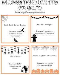 4 fun printable halloween themed grown up love notes