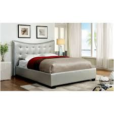 silver faux leather padded low profile bed frame with trough