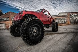 monster jeep jk lifted jk with fox shocks and 20