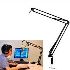 buy broadcast studio microphone stand desktop mic holder clamp