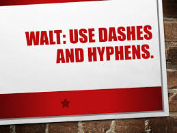 dashes and hyphens by lvfrith teaching resources tes