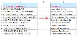 how to change uppercase to proper or title case in microsoft excel