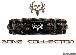 bone collector wide band bracelet camo with black
