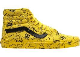 yellow brown sk8 hi peanuts charlie brown