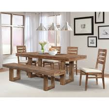 Trestle Dining Room Table Sets Waverly Wood Trestle Dining Table In Driftwood Humble Abode