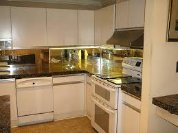 backsplash for small kitchen mirror backsplash small kitchen kitchen backsplash