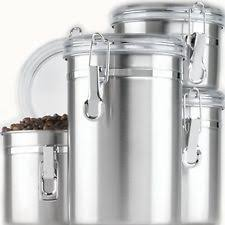 stainless steel kitchen canister set stainless steel kitchen canister sets ebay