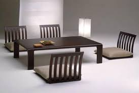 Japanese Living Room Japanese Living Room Table Big Artwork Square Wooden Table White
