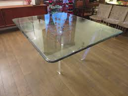 striking lucite and beveled glass dining table by roche bobois at striking lucite beveled glass dining table by roche bobois 3