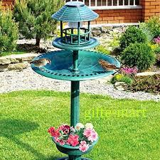 wilson and fisher solar lighted bird bath solar plant stand brainart club
