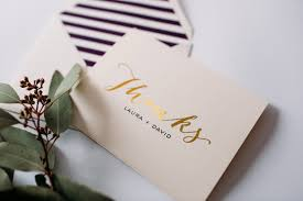personalized thank you cards gold foil personalized thank you cards lined envelopes set of 10