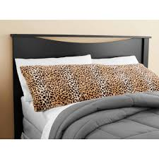 mainstays cheetah fur body pillow cover walmart com