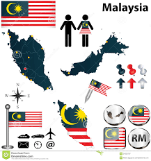 map malaysia vector map of malaysia stock vector image of land state button 31020787