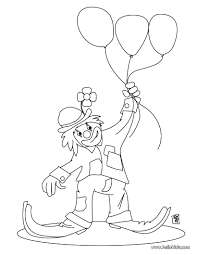 clown with the balloons coloring pages hellokids com