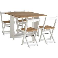 Butterfly Folding Chair Santos Butterfly Folding Dining Set In White And Pine Furniture123