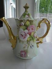 lefton china teapot roses lefton china painted teapot heritage green pink roses with