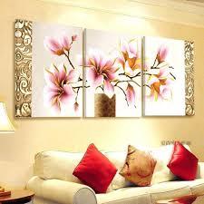 wall decor blue orchid wall decor stupendous no frame 3pcs print