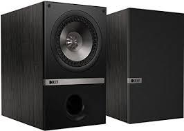 warehouse deals kef q100 bookshelf speakers black oak