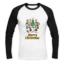 snoopy christmas shirts men s brown snoopy merry christmas baseball t shirts
