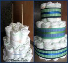 diaper cake and diaper cupcakes diy inspired