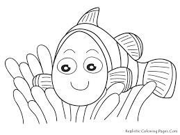 nemo fish coloring pages realistic coloring pages
