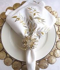 how to set a table with napkin rings gold silver lx olive napkin and pearl napkin ring with two tone