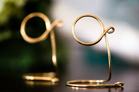 brass table number holders table sign holder for wedding party tabletop decor 1pc homes